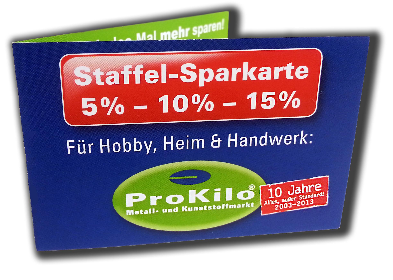 ProKilo Staffel Sparkarte 2