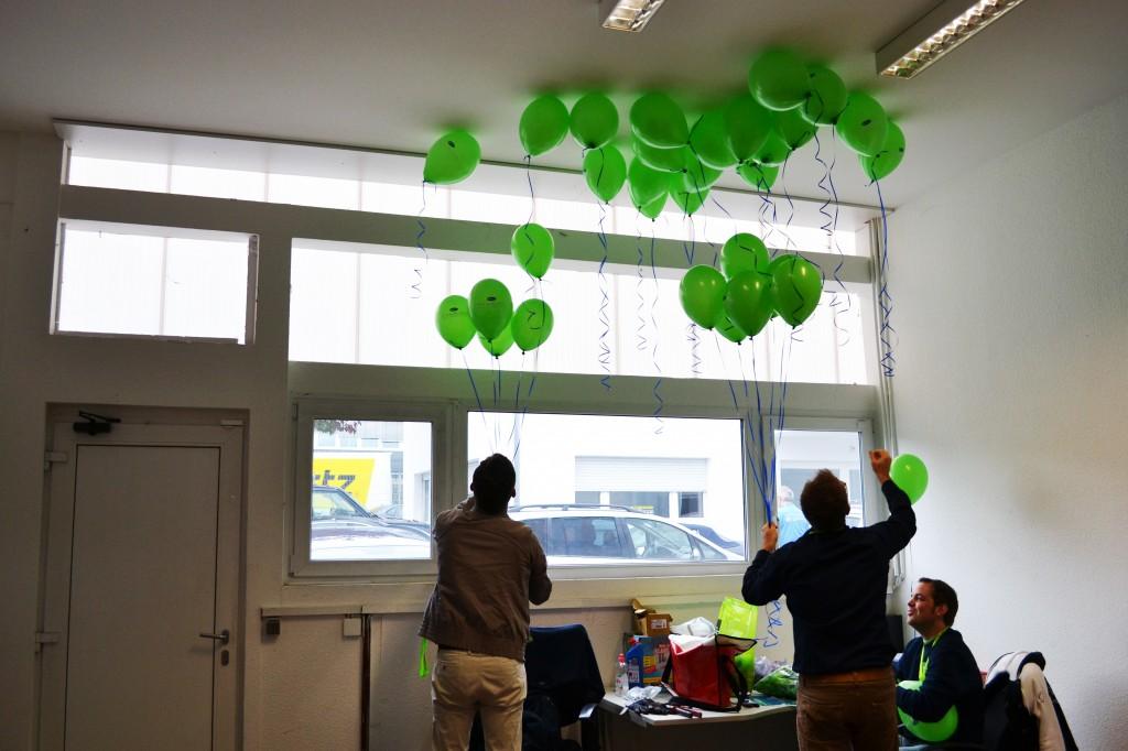 Luftballons zur Dekoration...