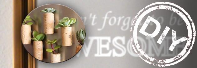 DIY: So einfach bastelst du aus kleinen Korken Blumentöpfe