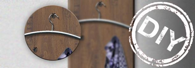 prokilo metall und kunststoffmarktdiy garderobe aus laminat in weinkistenoptik. Black Bedroom Furniture Sets. Home Design Ideas