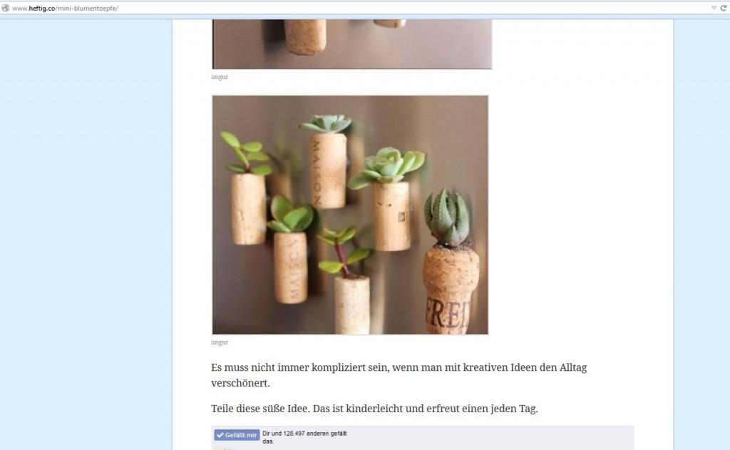 Aus Weinkorken Blumentöpfe basteln - tolle Idee!