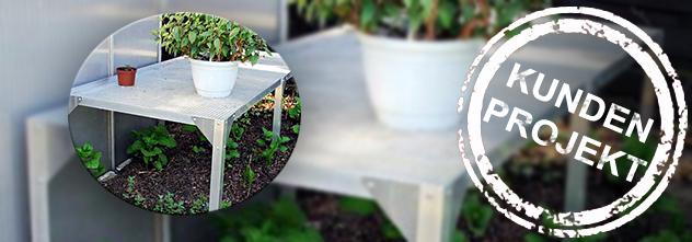 Kundenprojekt: Mit diesem Gartentisch schaffst du mehr Ablagefläche