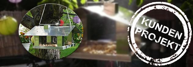 Kundenprojekt: Ein Vogelhaus aus Aluminium!
