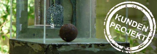 Kundenprojekt: künstlerische Objekte aus Stahl für Drinnen und Draußen