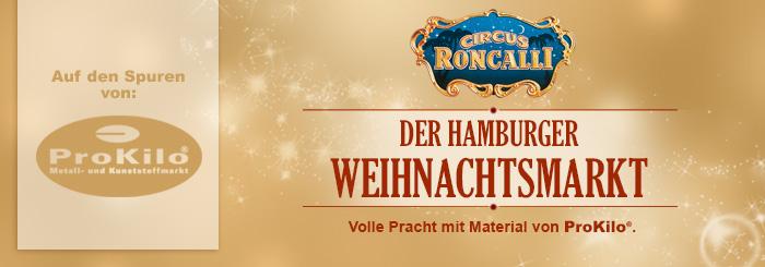 """Roncalli Weihnachtsmarkt in Hamburg: """"Wir zählen auf ProKilo!"""""""