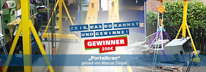 Portalkran selber bauen – ProKilo Gewinner zeigt, dass es geht!