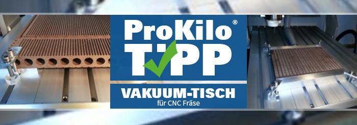Vakuumtisch für CNC Fräse selbst gebaut – Der ProKilo-Tipp