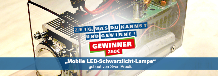 "Gewinner-Projekt ""LED-Schwarzlicht-Lampe"""