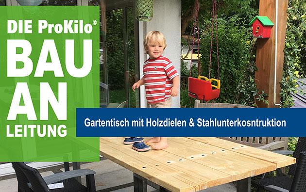 Bauanleitung Gartentisch