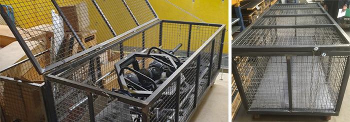 Spezialanfertigung: Ein neuer Materialwagen für die Handballer vom MTV Köln
