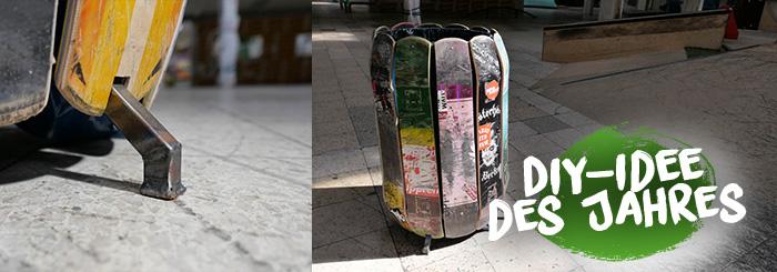 DIY-Mülleimer aus Skateboards – Upcycling statt Entsorgung