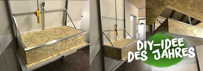 Praktischer DIY-Aufzug für die Garage
